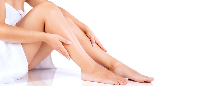 waxing smooth legs